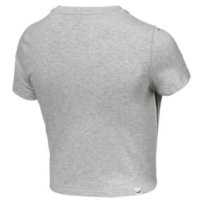 Thumbnail 4 of Tape Logo Women's Cropped Tee, Light Gray Heather, medium