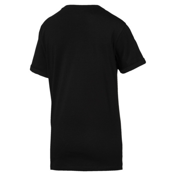 Tape Elongated T-Shirt, Cotton Black, large