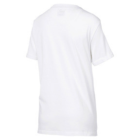 Thumbnail 3 of Elongated Women's Tape Tee, Puma White, medium