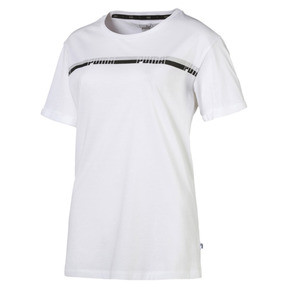 Thumbnail 1 of Elongated Women's Tape Tee, Puma White, medium