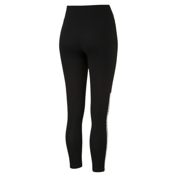 Tape Leggings, Cotton Black, large