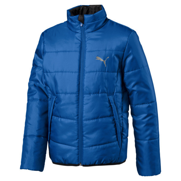 Essential Boys' Padded Jacket JR, Strong Blue, large
