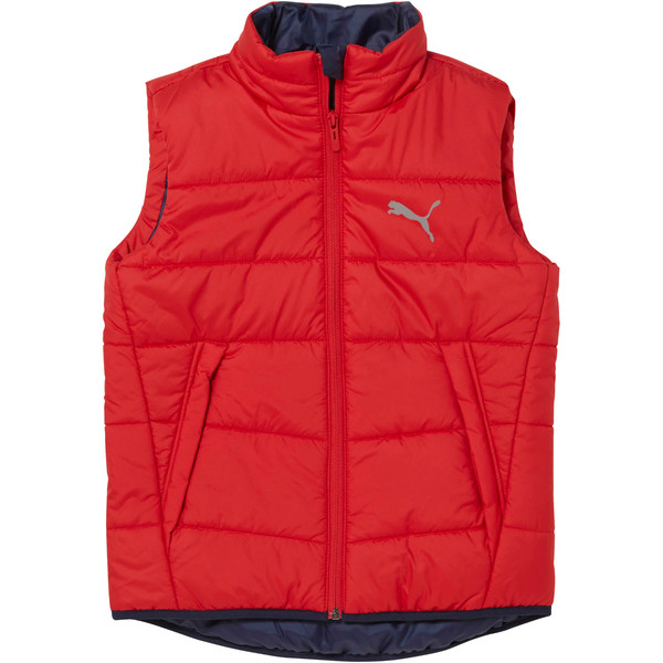 Boys' Essential Padded Gilet, Ribbon Red, large