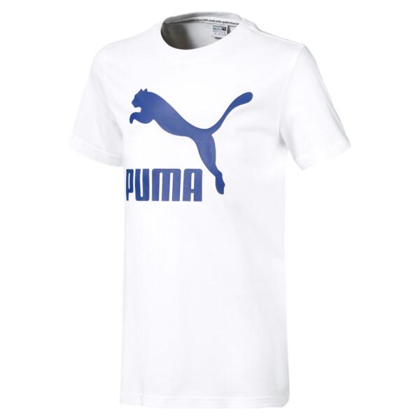 Camiseta Classics para niño joven, Puma White-Surf the web, grande