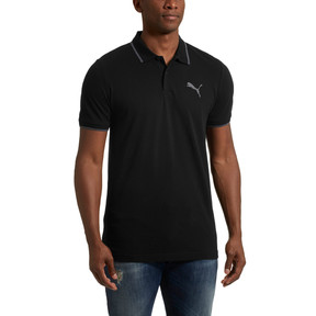 Thumbnail 2 of Modern Sports Polo Shirt, Cotton Black, medium