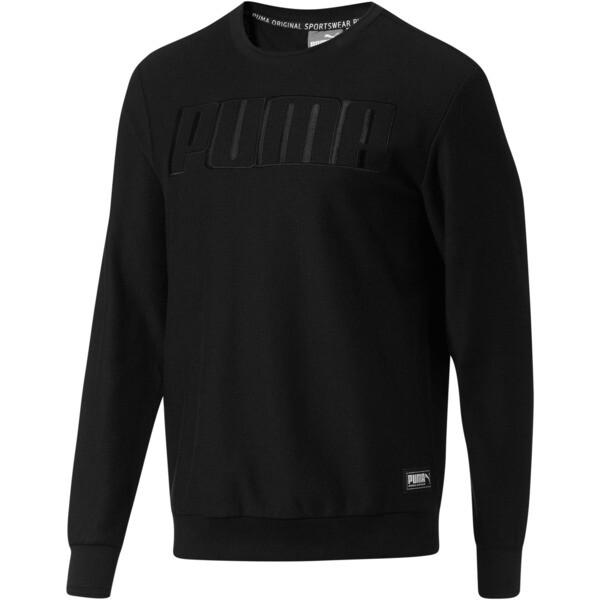 Athletics Premium Crew Sweat, Cotton Black, large