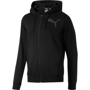 Thumbnail 1 of P48 Modern Sport FZ Hoodie, Cotton Black, medium
