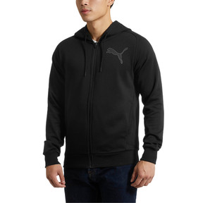 Thumbnail 2 of P48 Modern Sport FZ Hoodie, Cotton Black, medium