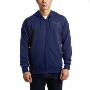 Thumbnail 2 of P48 Modern Sport FZ Hoodie, Peacoat, medium