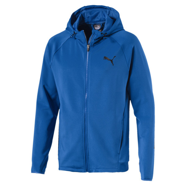 Tec Sports FZ Hoodie, Strong Blue, large