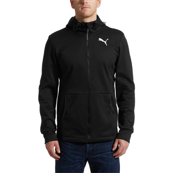 Tec Sports Warm Full-Zip Hoodie, Puma Black, large
