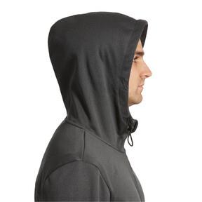 Thumbnail 3 of Tec Sports Warm Full-Zip Hoodie, Dark Gray Heather, medium