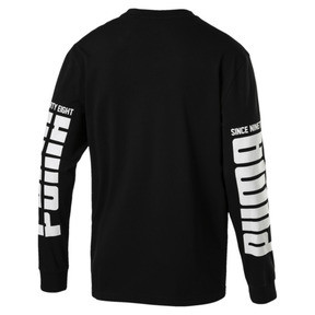 Thumbnail 4 of Rebel Up Raglan Long Sleeve Men's Tee, Cotton Black, medium