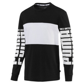 Thumbnail 1 of Rebel Up Raglan Long Sleeve Men's Tee, Cotton Black, medium