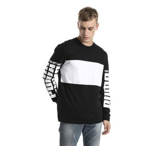 Thumbnail 2 of Rebel Up Raglan Long Sleeve Men's Tee, Cotton Black, medium