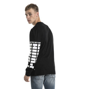 Thumbnail 3 of Rebel Up Raglan Long Sleeve Men's Tee, Cotton Black, medium
