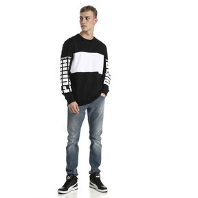 Thumbnail 5 of Rebel Up Raglan Long Sleeve Men's Tee, Cotton Black, medium