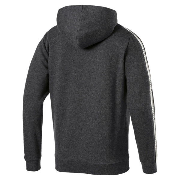 Men's Tape Fleece Hoodie, Dark Gray Heather, large