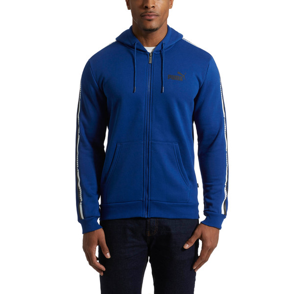 Men's Tape Full Zip Fleece Hoodie, 27, large