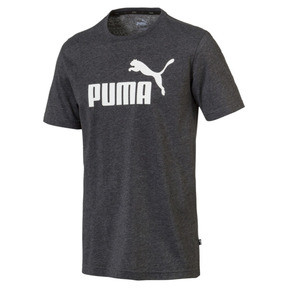 Thumbnail 1 of Essentials+ Men's Heathered Tee, Puma Black Heather, medium