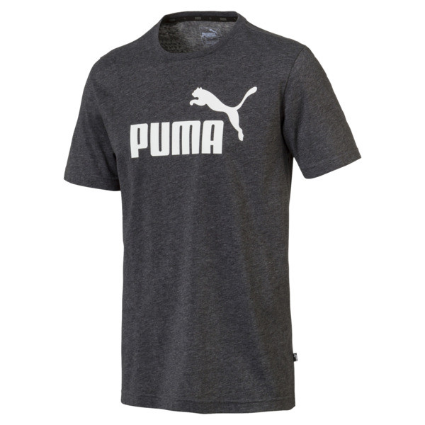 Essentials+ Men's Heathered Tee, Puma Black Heather, large