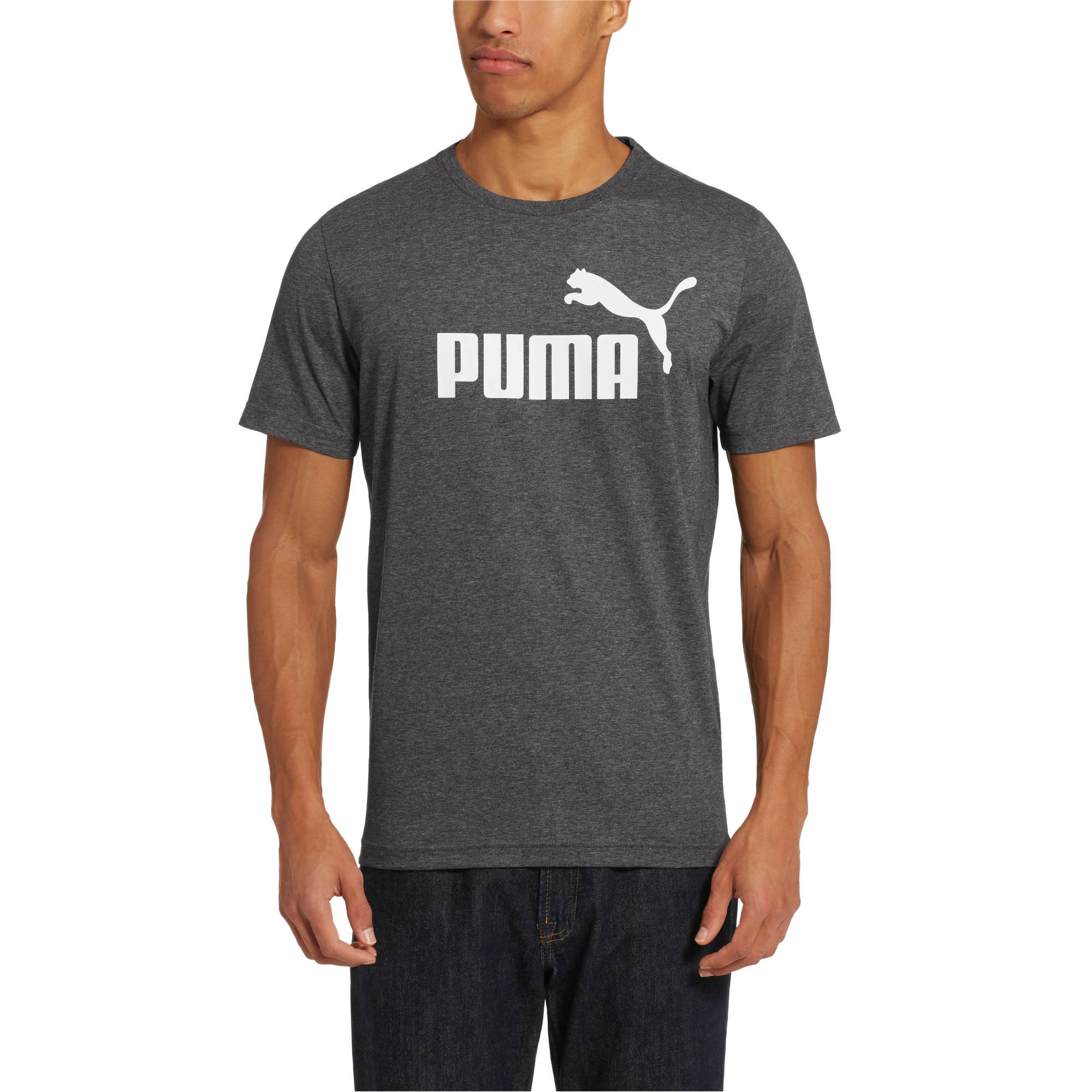 PUMA-Essentials-Heather-Tee-Men-Tee-Basics thumbnail 6