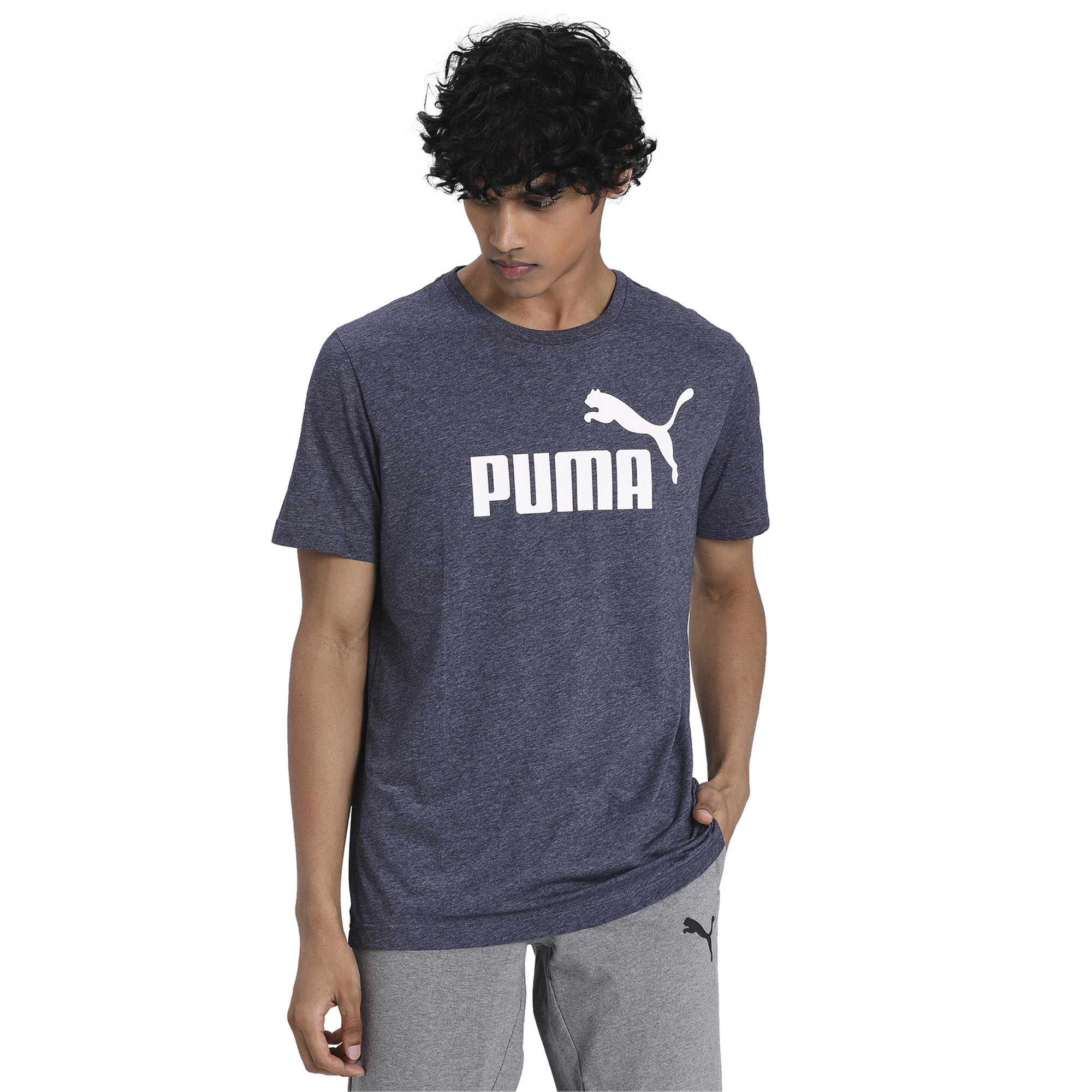 PUMA-Essentials-Heather-Tee-Men-Tee-Basics thumbnail 8