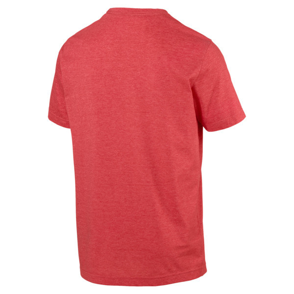 Essentials+ Men's Heathered Tee, High Risk Red Heather, large