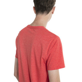 Thumbnail 2 of Essentials+ Men's Heathered Tee, High Risk Red Heather, medium