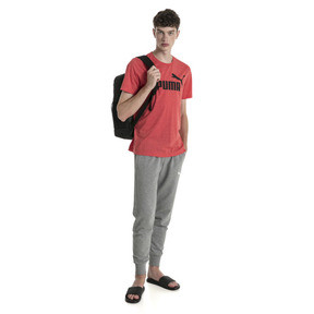 Thumbnail 3 of Essentials+ Men's Heathered Tee, High Risk Red Heather, medium