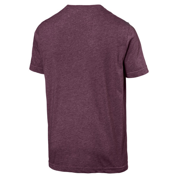 Essentials+ Men's Heathered Tee, Fig Heather, large