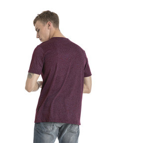 Thumbnail 3 of Essentials+ Men's Heathered Tee, Fig Heather, medium