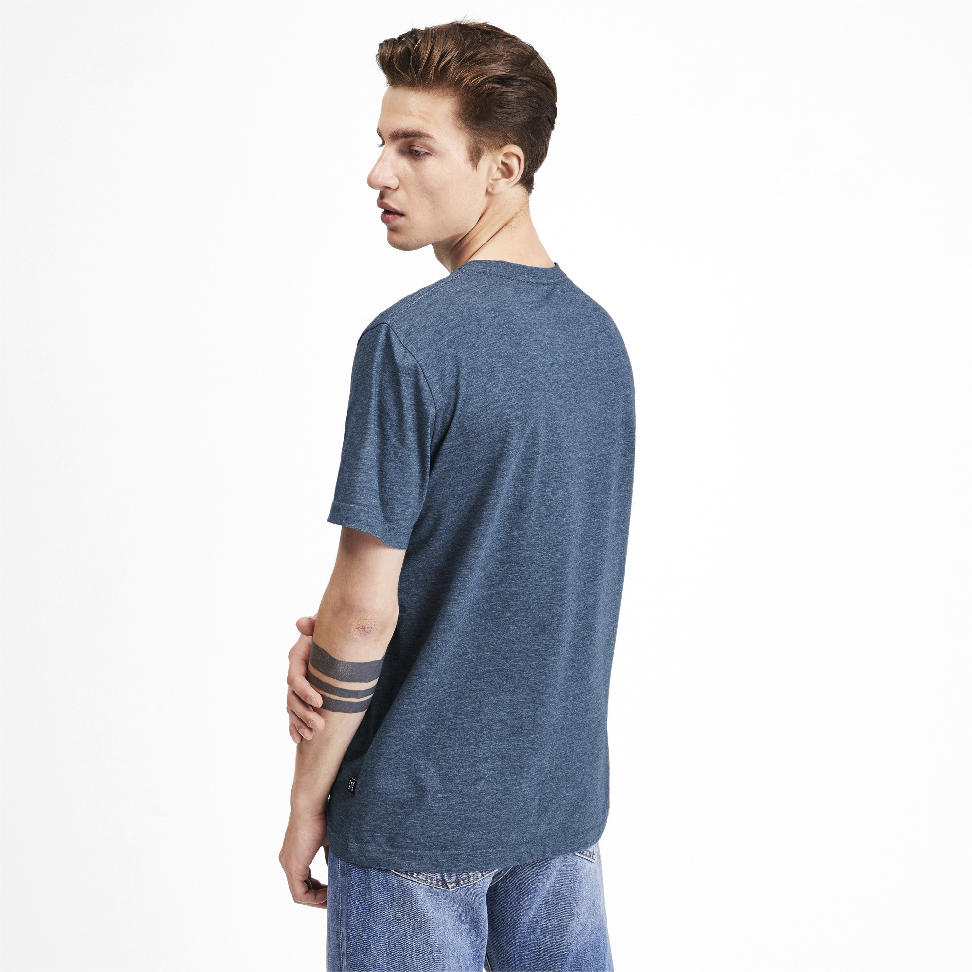PUMA-Essentials-Heather-Tee-Men-Tee-Basics thumbnail 14