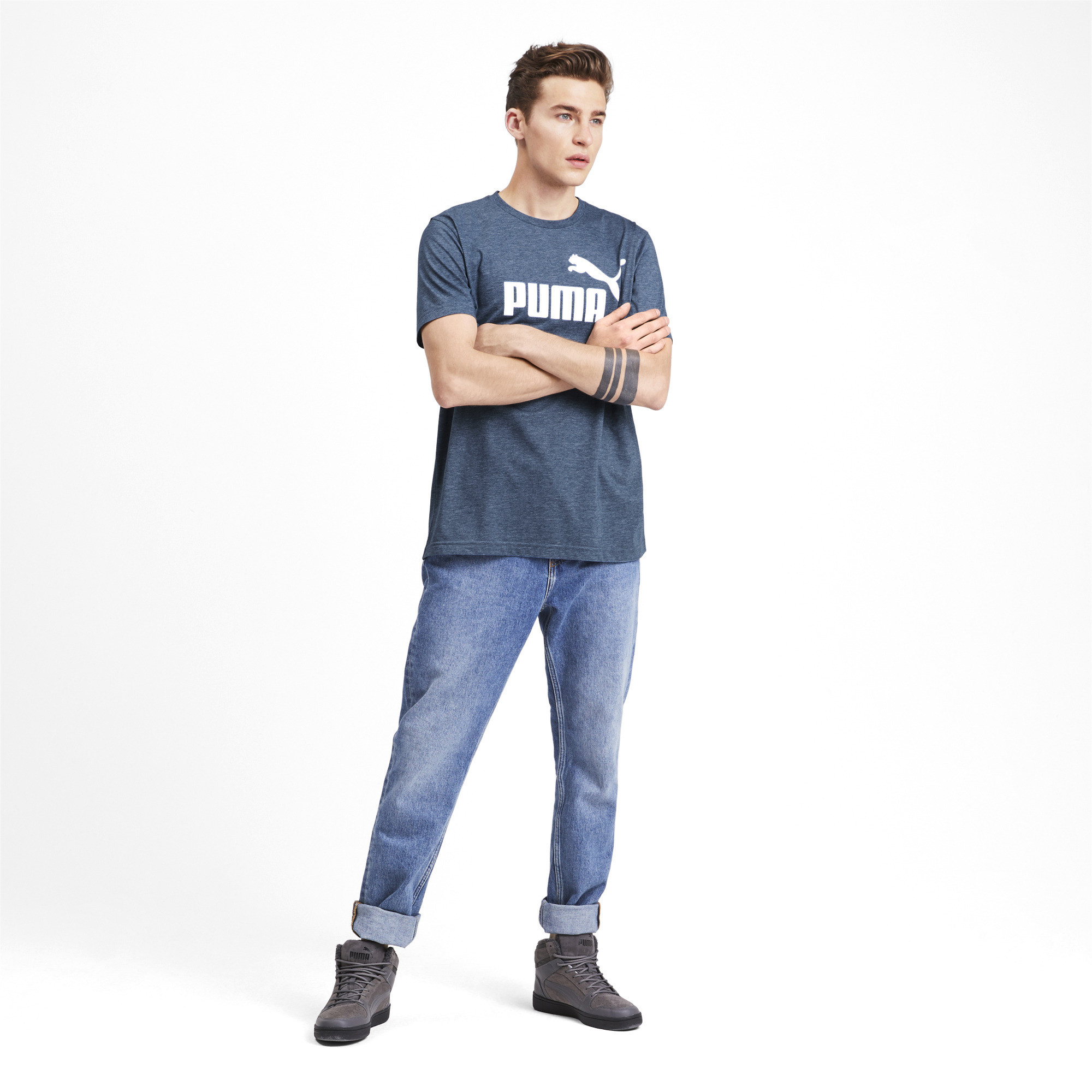 PUMA-Essentials-Heather-Tee-Men-Tee-Basics thumbnail 15