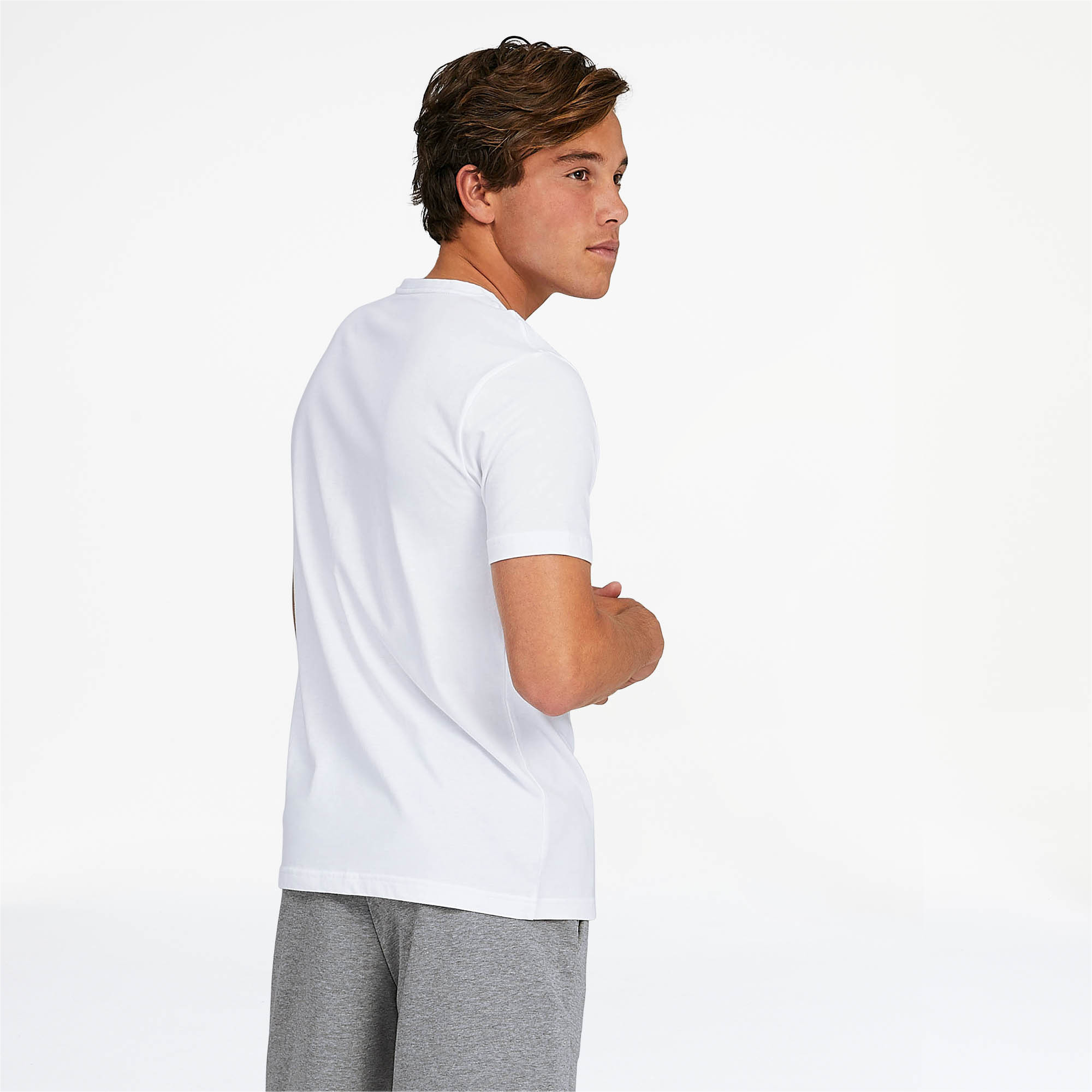 PUMA-Essentials-Men-039-s-V-Neck-Tee-Men-Tee-Basics thumbnail 12