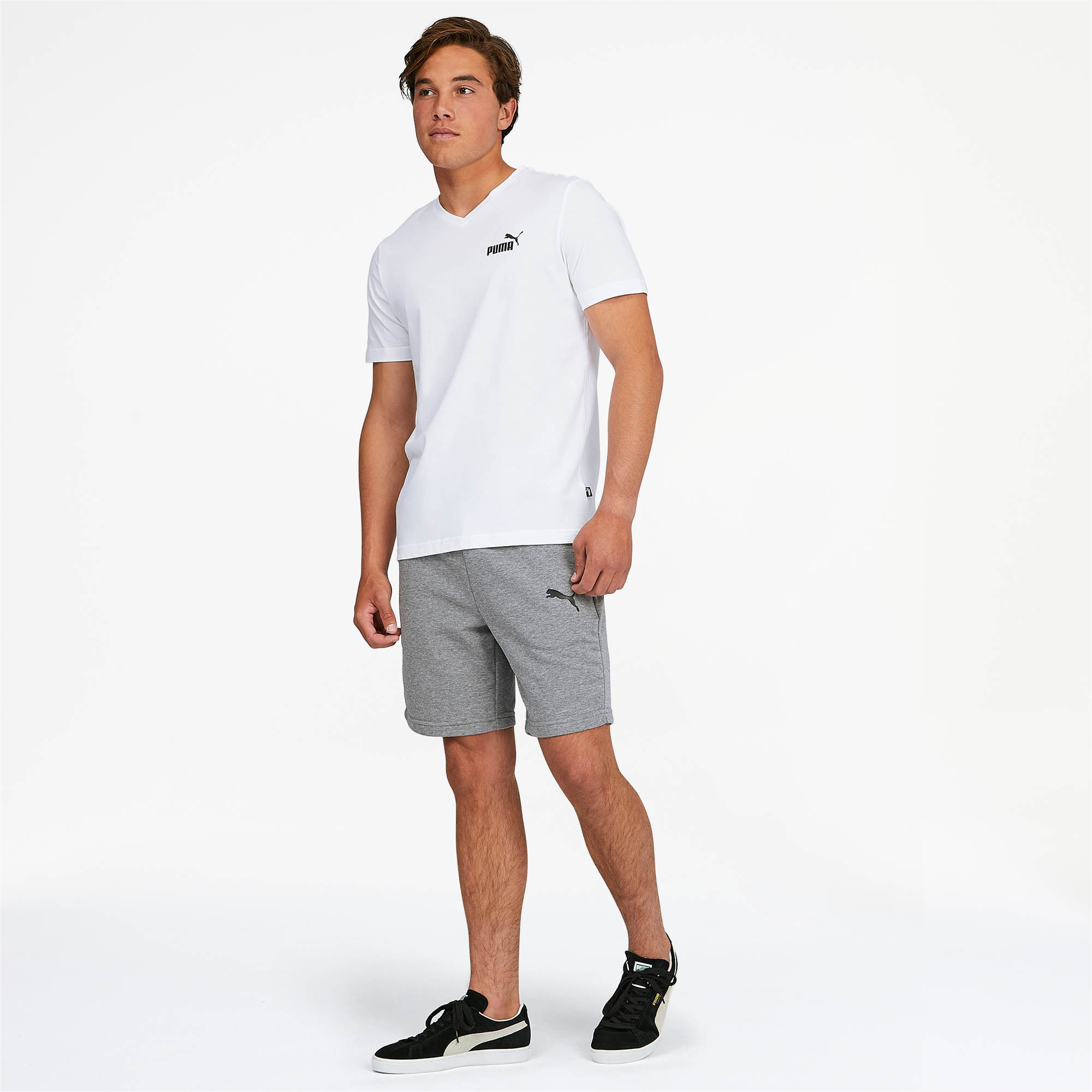 PUMA-Essentials-Men-039-s-V-Neck-Tee-Men-Tee-Basics thumbnail 13