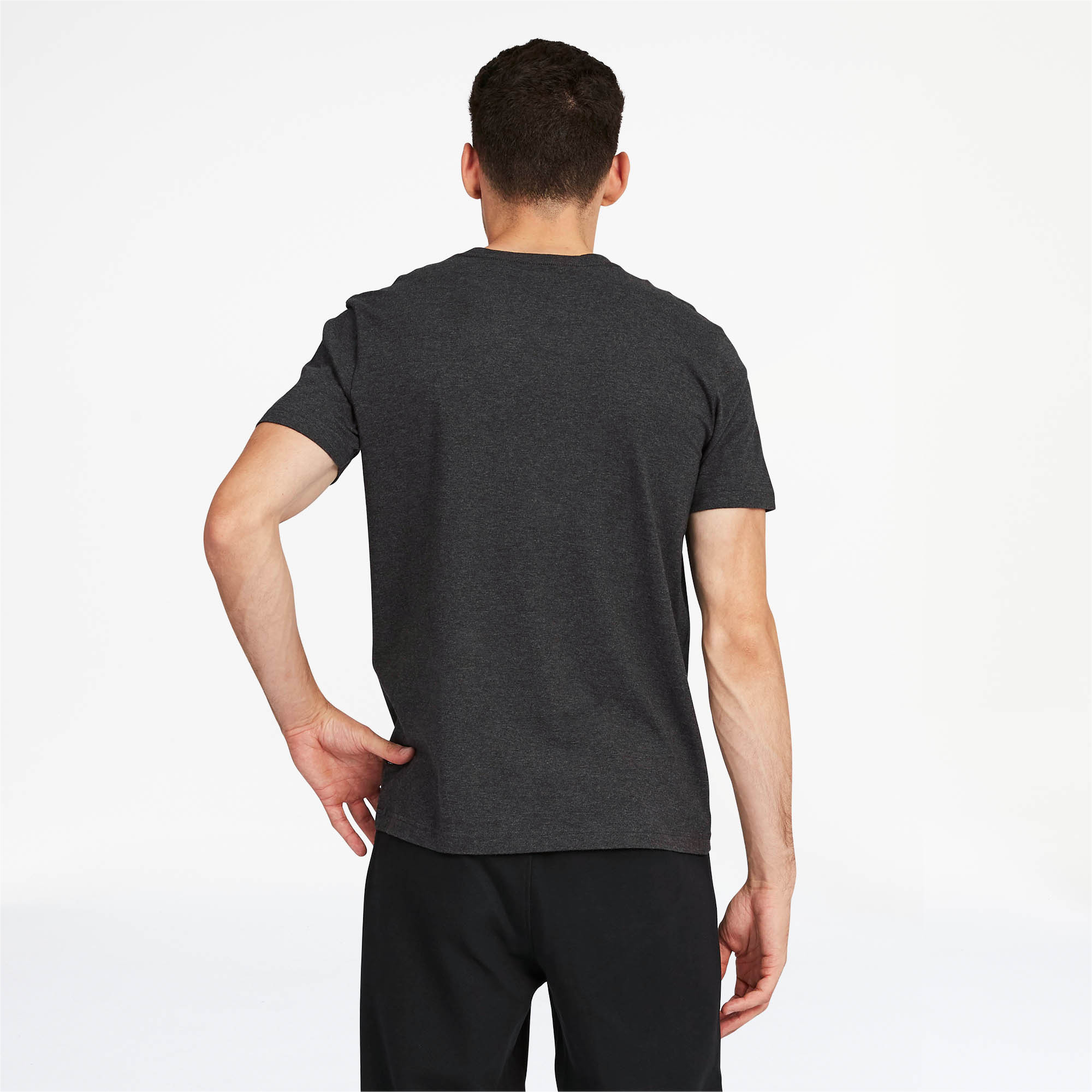 PUMA-Essentials-Men-039-s-V-Neck-Tee-Men-Tee-Basics thumbnail 4