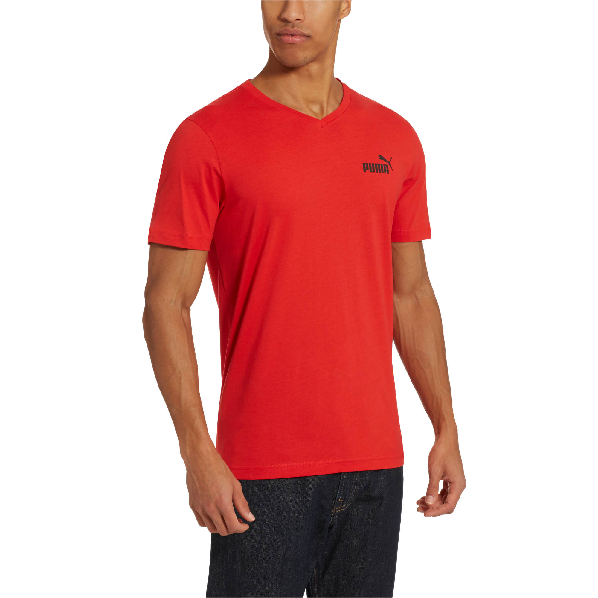 PUMA-Essentials-Men-039-s-V-Neck-Tee-Men-Tee-Basics thumbnail 19