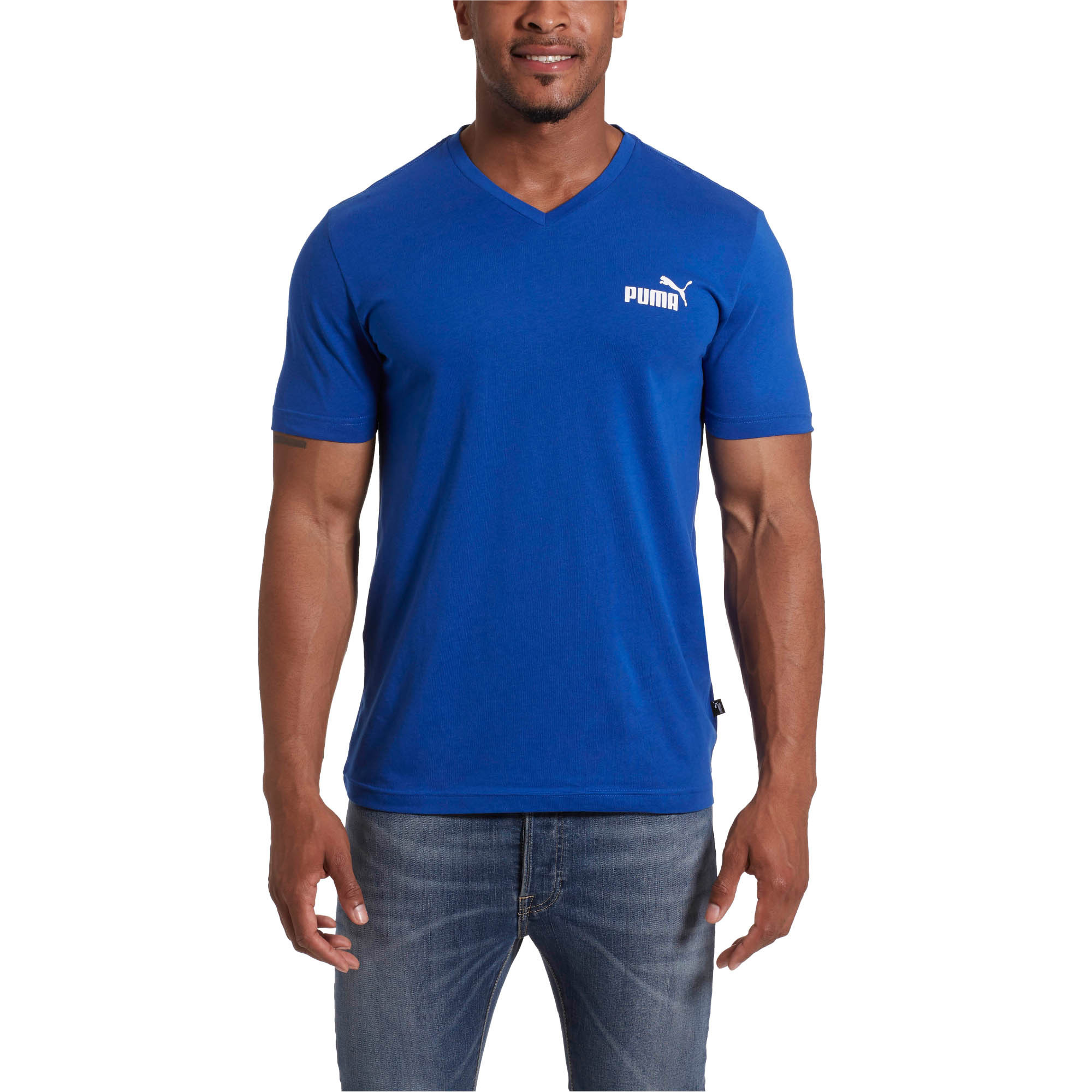 PUMA-Essentials-Men-039-s-V-Neck-Tee-Men-Tee-Basics thumbnail 24