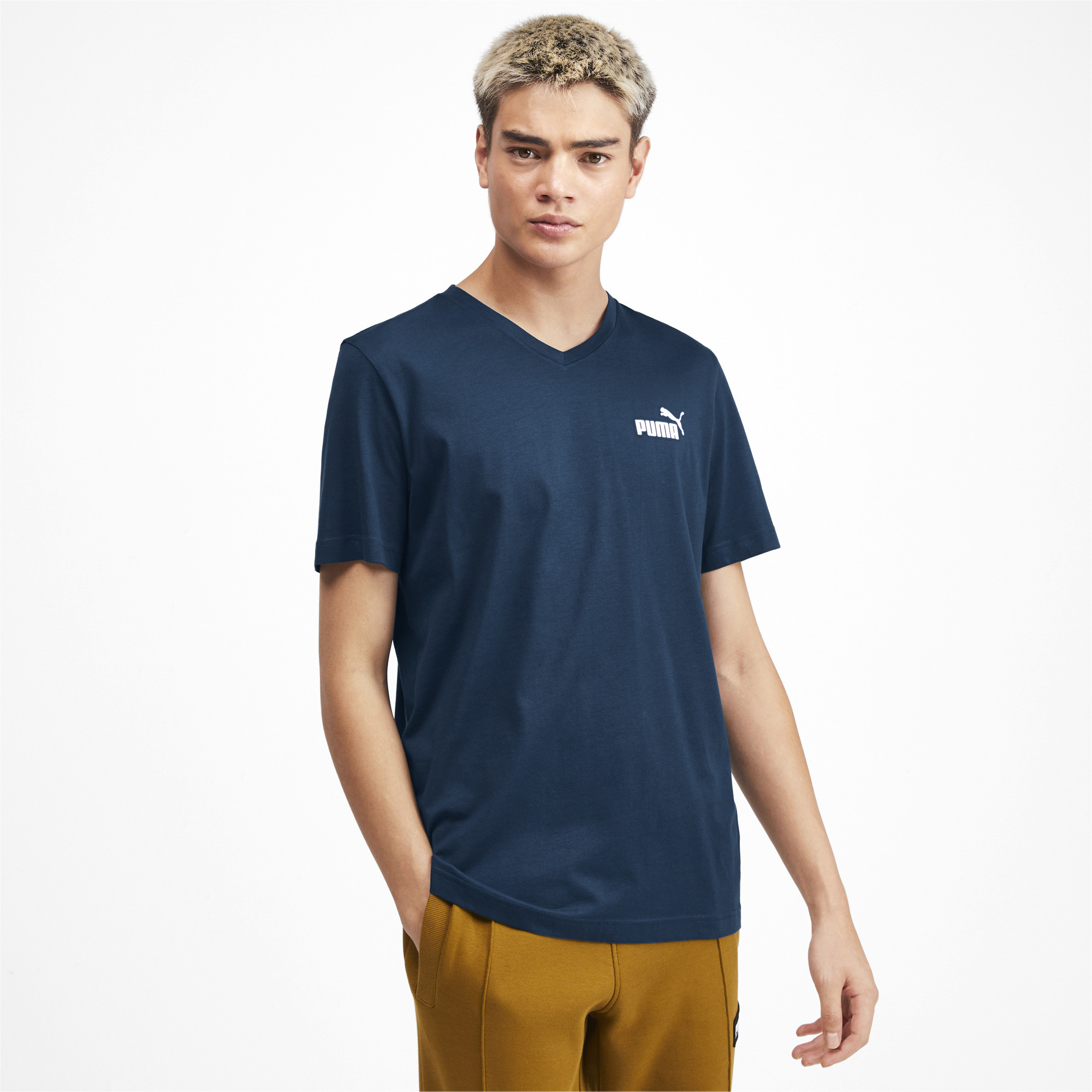 PUMA-Essentials-Men-039-s-V-Neck-Tee-Men-Tee-Basics thumbnail 37