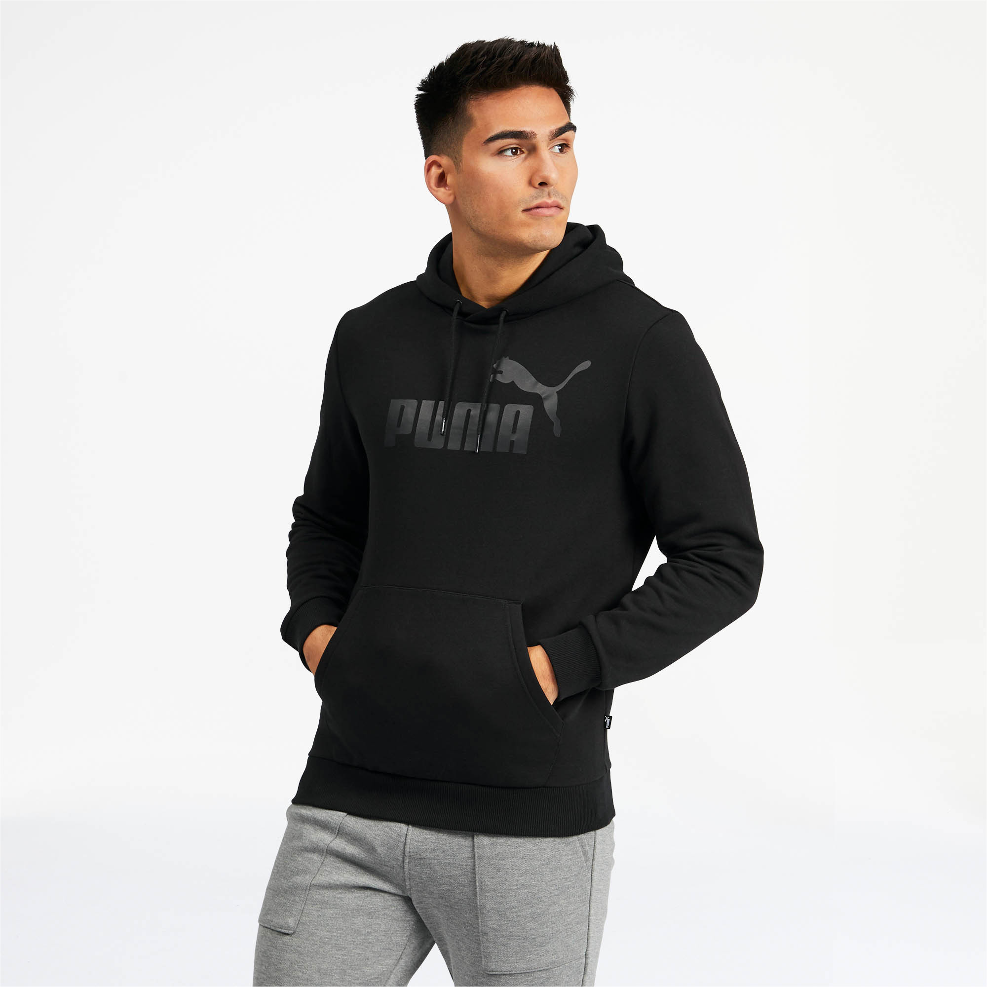 PUMA-Essentials-Men-039-s-Fleece-Hoodie-Men-Sweat-Basics thumbnail 4
