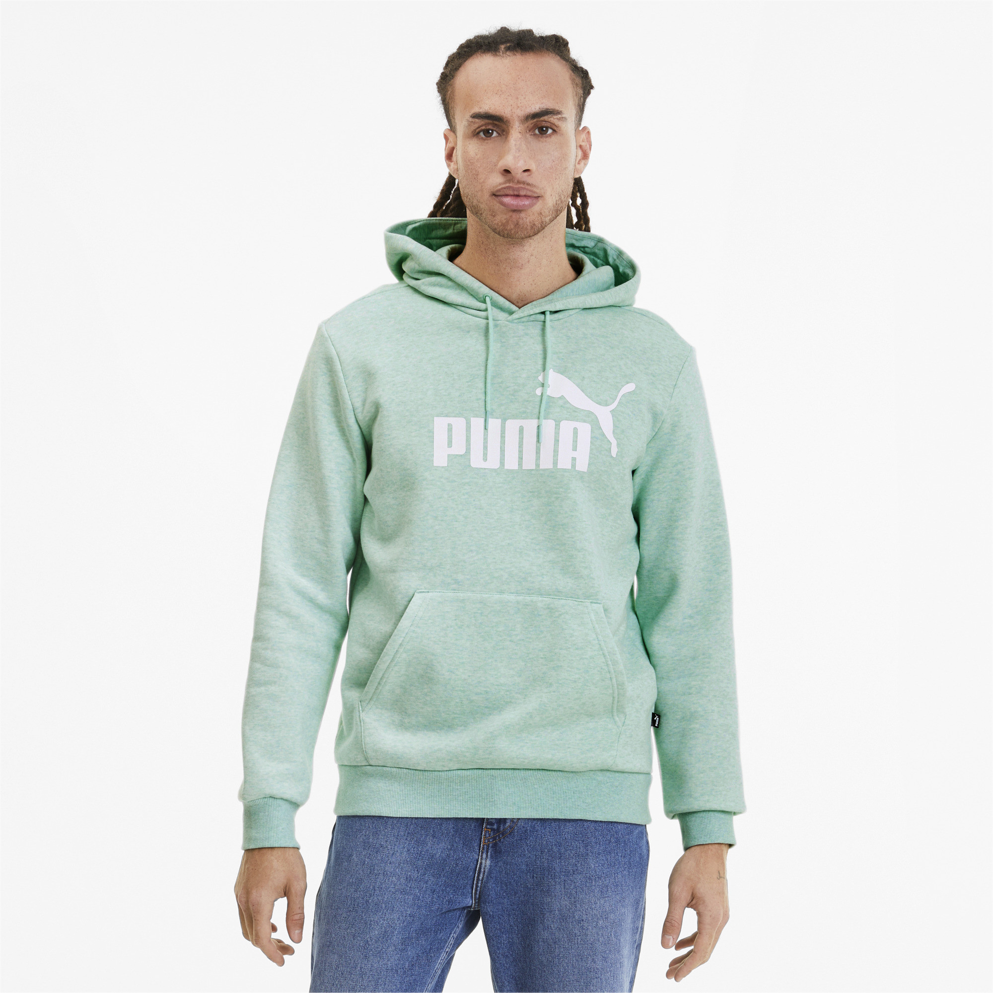 PUMA-Essentials-Men-039-s-Fleece-Hoodie-Men-Sweat-Basics thumbnail 40
