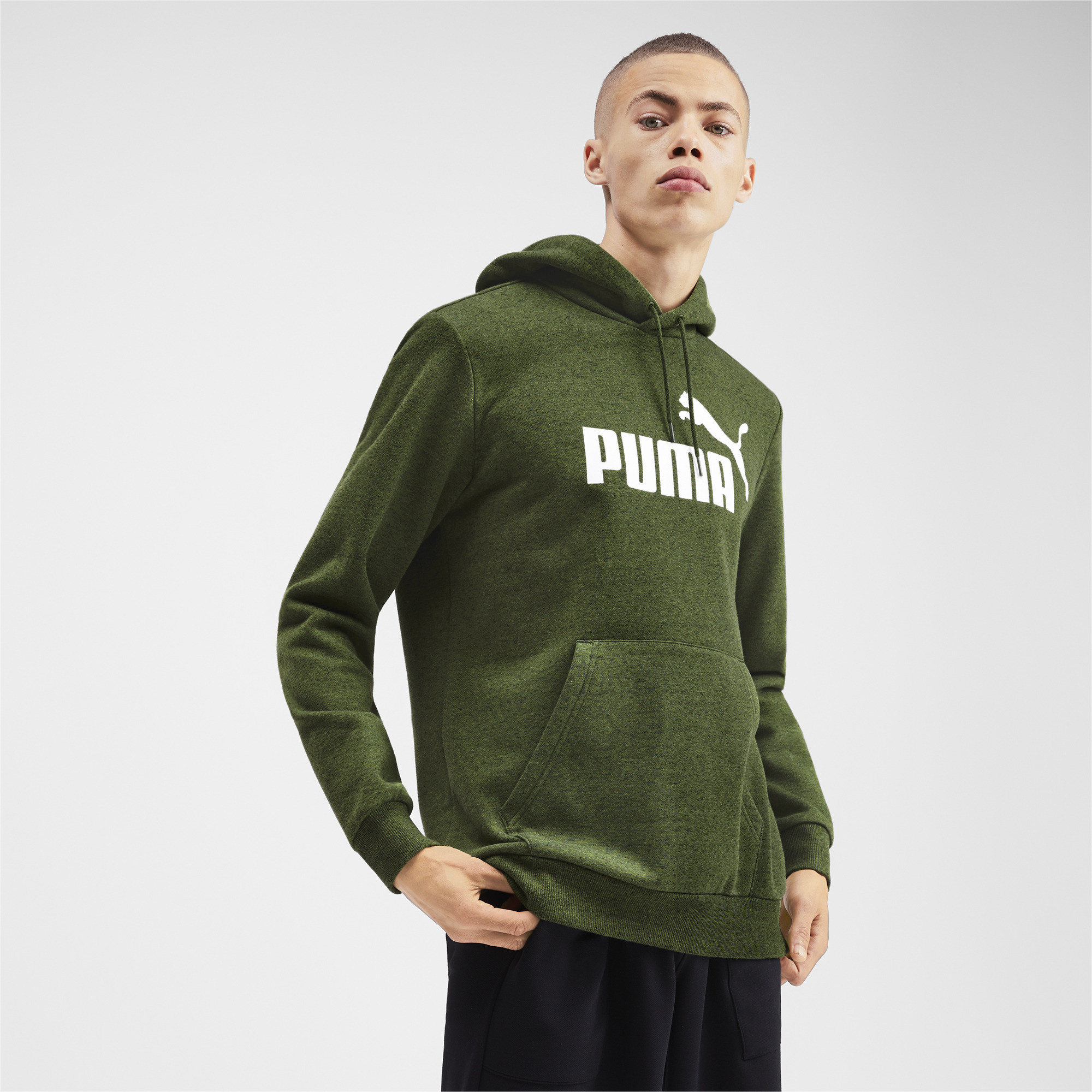 PUMA-Essentials-Men-039-s-Fleece-Hoodie-Men-Sweat-Basics thumbnail 7