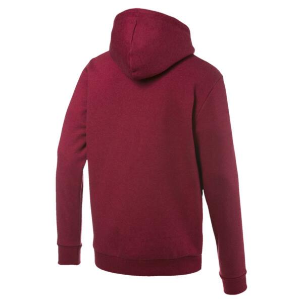 Essentials+ Men's Fleece Hoodie, Rhubarb Heather, large