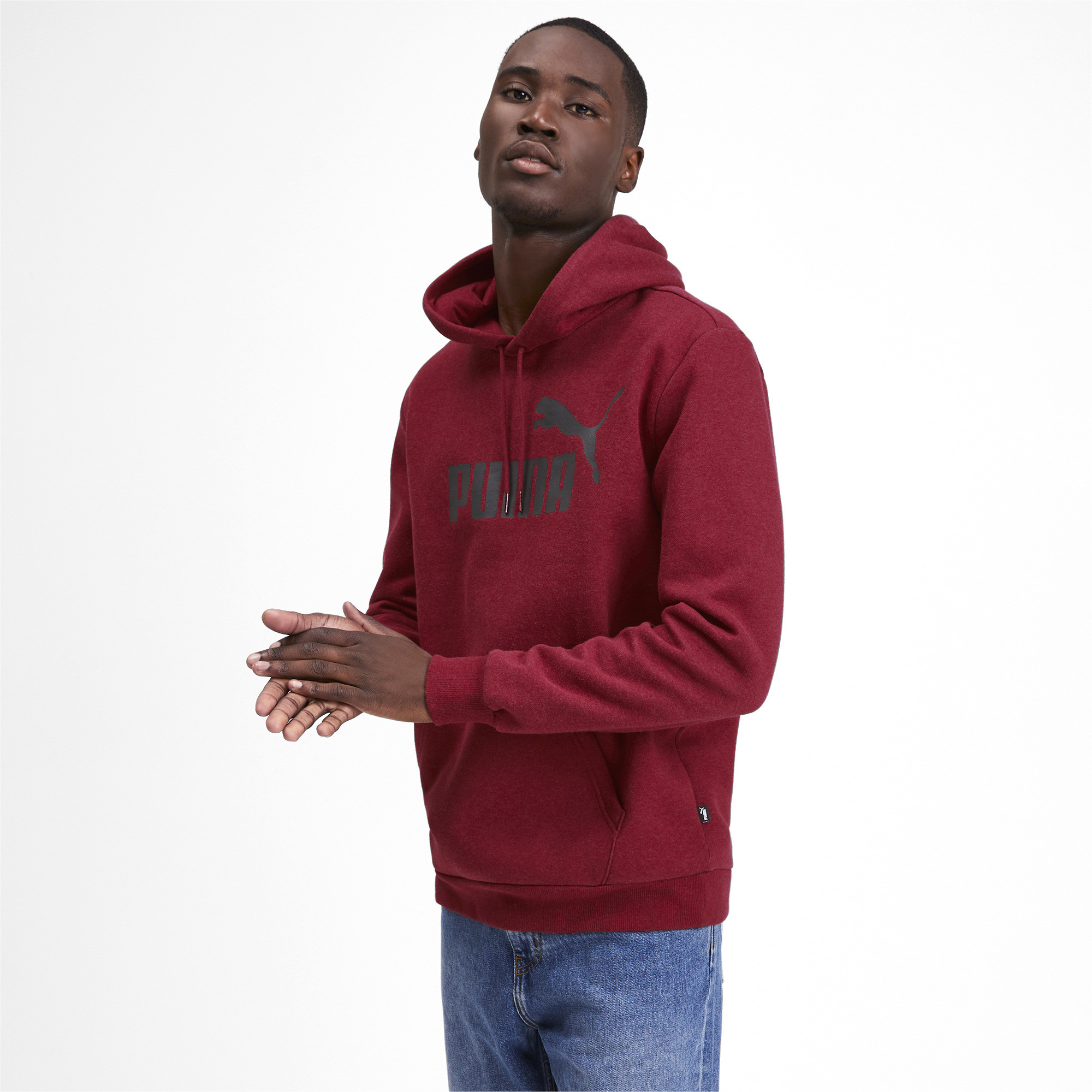 PUMA-Essentials-Men-039-s-Fleece-Hoodie-Men-Sweat-Basics thumbnail 10