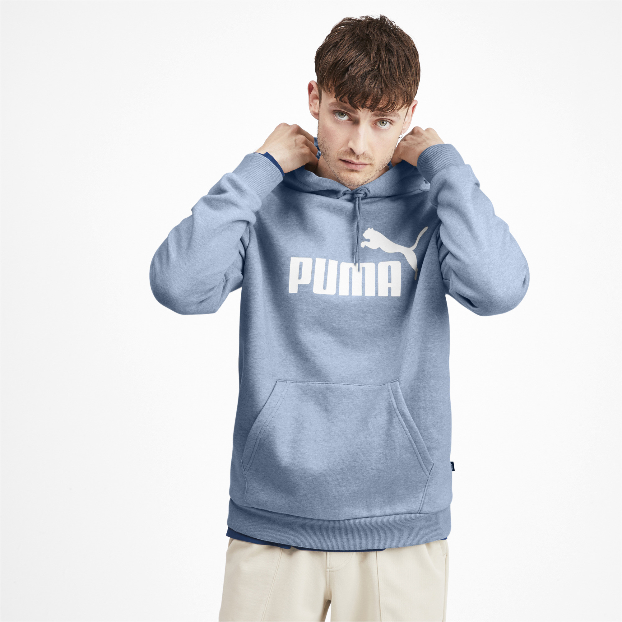 PUMA-Essentials-Men-039-s-Fleece-Hoodie-Men-Sweat-Basics thumbnail 27