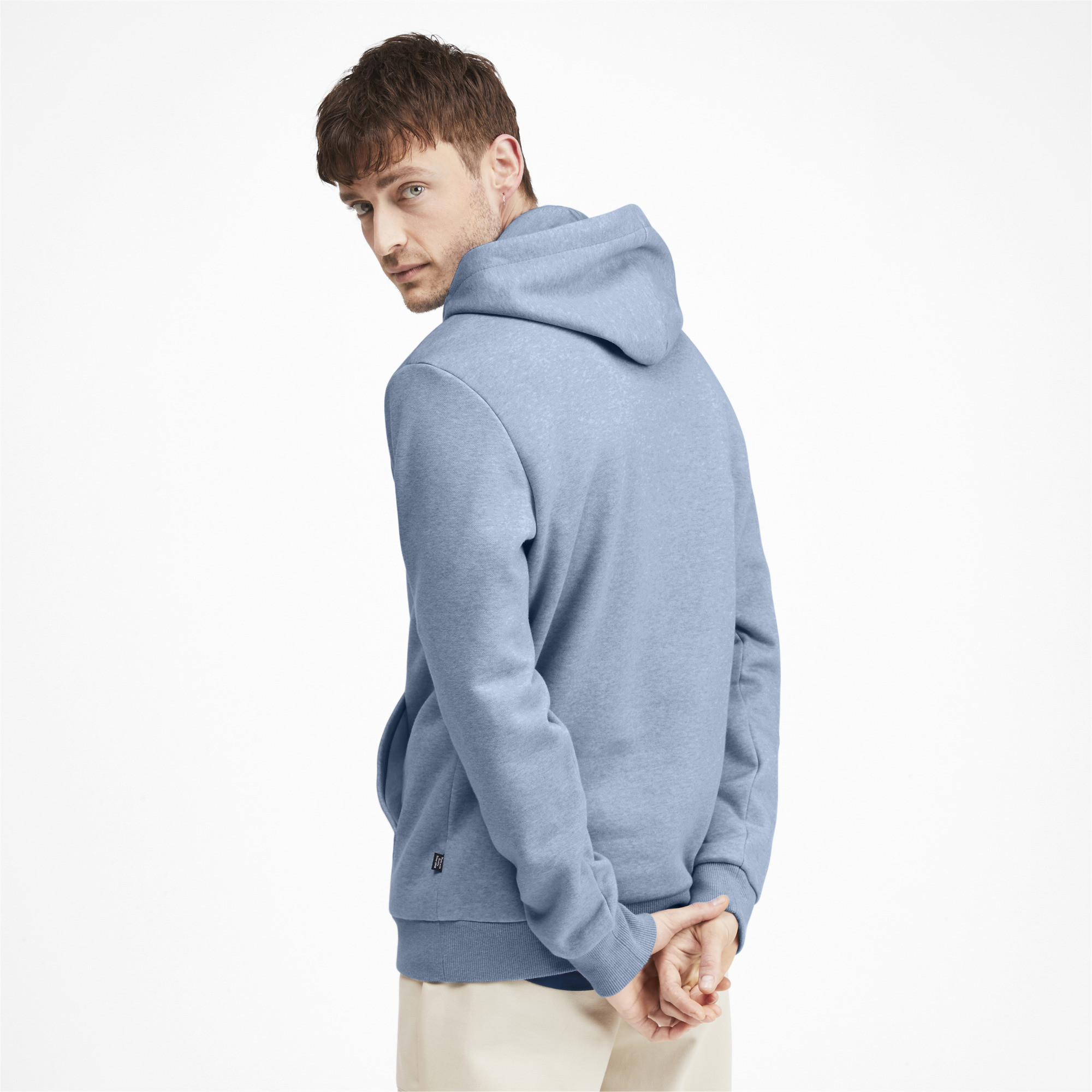 PUMA-Essentials-Men-039-s-Fleece-Hoodie-Men-Sweat-Basics thumbnail 30