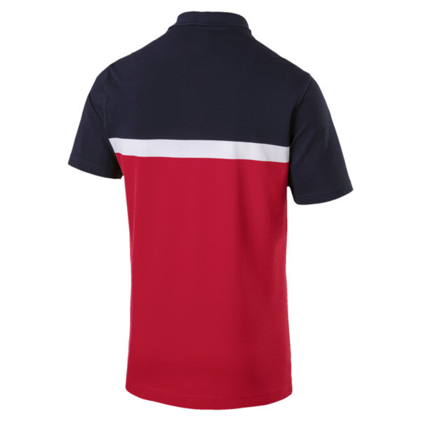 Essentials+ Stripe Men's Polo, Ribbon Red, large
