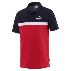 Thumbnail 1 of Essentials+ Stripe Men's Polo, Ribbon Red, medium