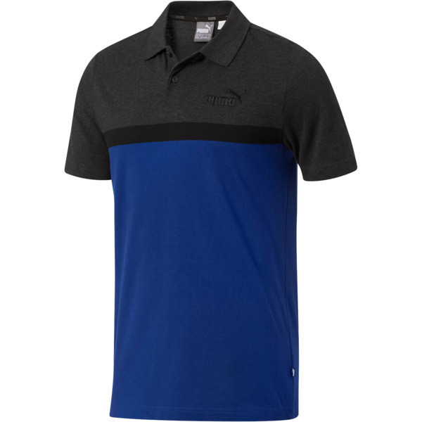 Essentials+ Stripe Men's Polo, Sodalite Blue, large